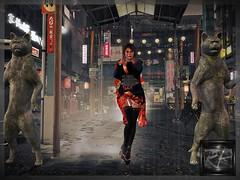 Chinatown (RedPoison003) Tags: luck china avatar asia cat secondlife sexy