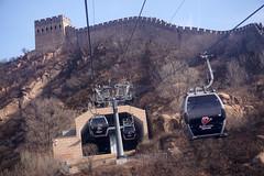 Cable Cars (baalands) Tags: great wall china badaling cable cars tower