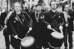 a short story about drummers (ignacy50.pl) Tags: people drummers parade streetphotography faces blackandwhite music winemakers citylife