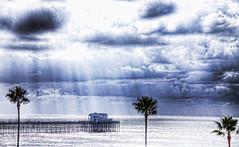 Ruby's Rainy Day 2019 (rod1691) Tags: rubys pier clouds oceanside california beach ocean palms sunrays