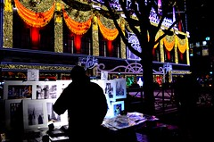 Lights and Images (explored) (pjpink) Tags: christmas christmassy christmasy lights display holiday festive night saks lightshow city nyc newyork newyorkcity ny november 2018 fall pjpink 2catswithcameras