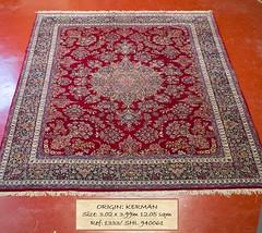 1333 SHL Kerman, 399x 302, 12.05 (Persian Rugs UK) Tags: 1205 1333 399x302 940061 kerman loc medallion persian shl
