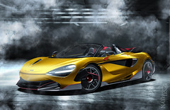 McLaren 720S Spider (nike_747Original) Tags: naksphotographydsign mclaren 720s spider roadster speedster ultimate gt gtr gts supersport supercar hypercar super hyper car sportscar sport class exotic rare luxury color auto limited edition road legal garage box parking track smoke fog light flash reflection trail yellow gold red cherry pink black carbon fiber azure wing hardtop convertible cabrio opentop twinturbocharged v8 monocoque