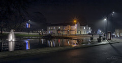 Norton at Night December 2018-2 (Simon McCabe) Tags: norton simonmccabe night light water pond stockton tees teeside
