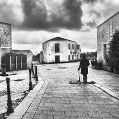 Ritorno a casa (nicolamarongiu) Tags: blackandwhite biancoenero monocromo monocrome monopattino story fantasy surrealismo surrealism case strada memory home abbandoned italy sardinia sardegna trattaliasvecchia