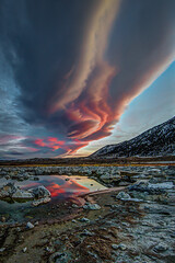 Winter Sierra Wave at Mono Lake (Jeff Sullivan (www.JeffSullivanPhotography.com)) Tags: sierra wave lenticular cloud winter mono sunset december 4 2016 landscape nature photography county eastern california usa copyright jeff sullivan lake cloudy