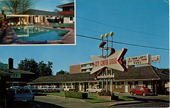 City Centre Lodge Motel, Eugene, Oregon (SwellMap) Tags: postcard vintage photograph chrome linen googie diner cafe casino