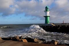 lighthouse Warnemünde (haesy) Tags: warnemünde mecklenburg winter balticsea water rostock wintertime sea lighthouse