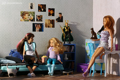 the sisters (photos4dreams) Tags: blond blonde dress barbie mattel doll toy photos4dreams p4d photos4dreamz barbies girl play fashion fashionistas outfit kleider mode puppenstube tabletopphotography fleamarket finding flohmarktfund used renewed skipper kids girls mädchen kinder stacie smellsliketeenspirit nirvana