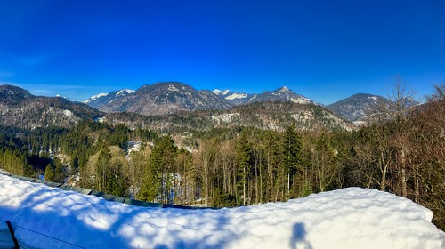 Panoramic mountain view from Thierberg, Tyrol, Austria