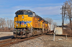 Southbound Manifest in Kansas City, MO (Grant G.) Tags: up union pacific railroad railway locomotive train trains south southbound manifest freight emd kct power kansas city missouri