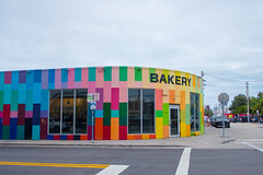 bakery (jenny_guo) Tags: miami florida street color colour colorful colourful rainbow mural wynwood travel xpro2 x fujinon 18mm f2 outdoor store storefront bakery