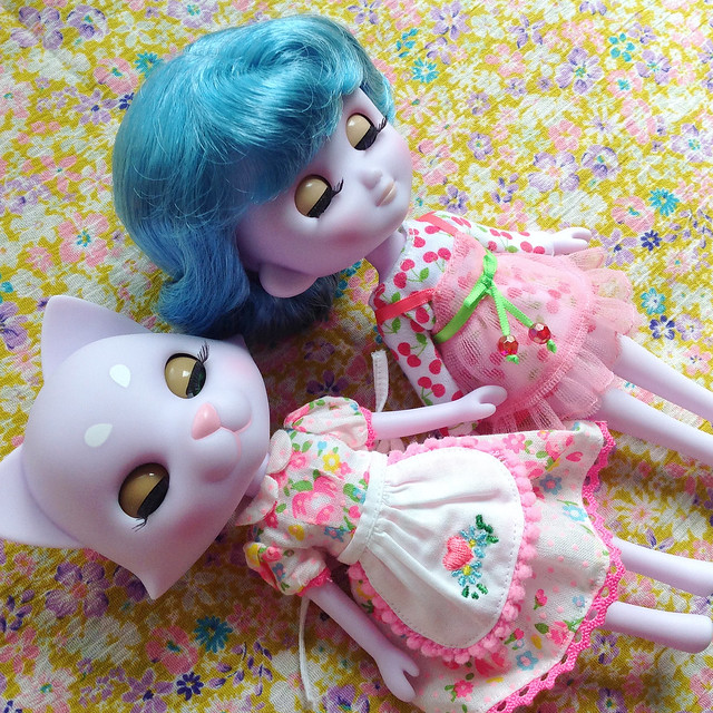 Odeco and Nikki trying out Middie Blythe fashion