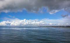 SoCal Coastline (Andy.Gocher) Tags: andygocher canon100d usa california huntington beach sea seascape seaside coastline clouds sky water blue bluesky