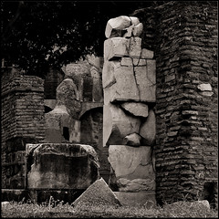 Forum Romanum | Rome, Italy (Flemming J. Gade) Tags: bw square squareformat pillar bricks