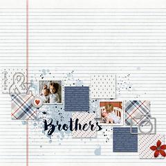 bellisae_7DAW-brothers (Katy.Mini) Tags: bellisaedesigns seven days week bleu gray red