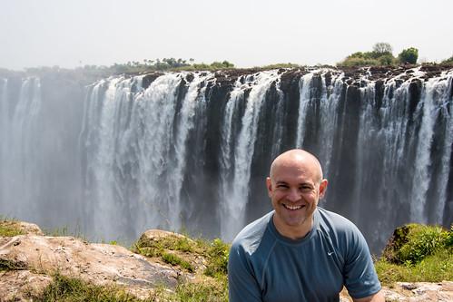Theron at Victoria Falls