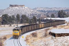 UP 8419 Castle Rock 12 Nov 18 (AK Ween) Tags: up unionpacific up8419 emd sd70ace castlerock colorado jointline csux train railroad