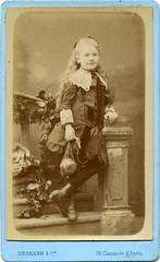 Charming French Girl (vintage ladies) Tags: vintage blackandwhite victorian portrait people photograph photo cabinetportrait cabinetcard studio studioportrait female french victoriangirl child girl