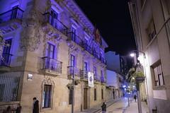 El Ayuntamiento, iluminado de morado por el Día Internacional contra la Violencia hacia las Mujeres.