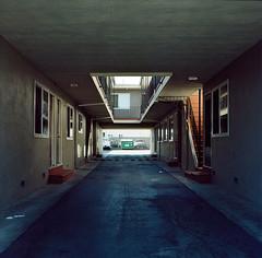 Bascom // San Jose (bior) Tags: hasselblad500cm portra160nc expiredfilm mediumformat 120 6x6cm hasselblad apartment driveway sanjose bascom corridor