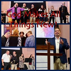 Worship Ad with Title: God Makes All Things New (nomad7674) Tags: 2018 beacon hill church evangelical free efca ad advertisement grid diptych diptic collage pastor don beachy