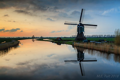 Mill reflections @ Ammersche boezem (Marcel Tuit | www.marceltuit.nl) Tags: zuidholland spring achterlandsemolen voorjaar reflection reflectie nederland canon watermolen holland boezem molen eos 7d mill thenetherlands sunset me landmark bezienswaardigheid outdoor alblasserwaard clouds wwwmarceltuitnl marceltuit grootammers zonsondergang wolken water ammerscheboezem contactmarceltuitnl polder brandwijk lente