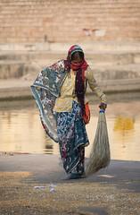 0875 Dancing With A Broom (Hrvoje Simich - gaZZda) Tags: outdoors people woman broom street colorful travel india asia nikon nikond750 sigma150500563 gazzda hrvojesimich