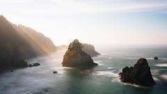 Time and Place (John Westrock) Tags: seascape longexposure nature landscape oregon pacificnorthwest canoneos5dmarkiii canonef2470mmf28lusm sun sky sea ocean