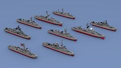 2018_350 (Lego shipyard) Tags: lego ship microship warship microscale micro frigate destroyer corvette