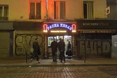 . (Le Cercle Rouge) Tags: paris france belleville night nuit darkness light pacha kebab boucherie pivert 75011 streetart graff graffiti flop tag painters handstyle ruedufaubourgdutemple