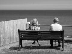 P7078220 (TheTorp) Tags: cromer bench seaside bw intimacy story