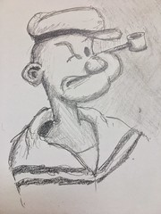 Face 75:100 #pencil #drawing of a typical sailor (Howard TJ) Tags: sailor cartoon face drawing pencil male 100facechallenge sketch