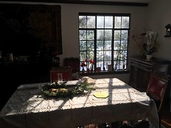 ChristmasReflections (tombrewster6154) Tags: christmas stollen traditional family breakfast early winter sunshine morning beauty inside indoors outdoors outside sunlight dining room window table mesa comida desayuno navidad weston massachusetts late december 2018 mmxviii tuesday chairs flowers cloth white napkins