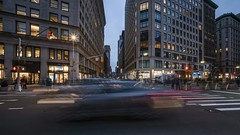 Flatiron Pan TL 111718 UHD with music (Michael.Lee.Pics.NYC) Tags: newyork timelapse video night flatirondistrict fifthavenue esb empirestatebuilding porcelanosa pedestrians cars traffic broadway architecture cityscape pan panning sony a7rm2 voigtlanderheliar15mmf45 syrpgeniemini
