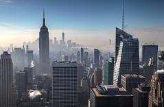 Manhattan (AdjaFong) Tags: morning morgensonne morgennebel winter