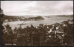 postkort (Avtrykket) Tags: bolighus dampskip holme hus postkort rutebåt uthavn uthus arendal austagder norway nor