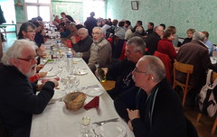 Repas à la randonnée du patrimoine 2014, à Roz-Landrieux (35)