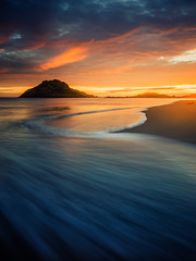 golden hour (bjorns_photography) Tags: nature sunset view photography water ocean rock sand beach