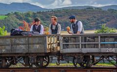 Victorian Slate Workers (tramsteer) Tags: tramsteer wales cap slate wagons workers porthmadog ffestiniog railway