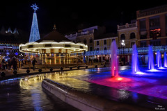 Night Ciudad Real 2018 (Peideluo) Tags: night longexposure street light water colors christmas plaza fuente nocturna