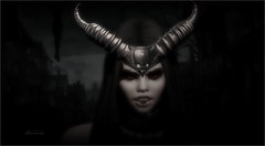 How To Create A Monster (tarja.haven) Tags: valkyr ornaments horns facepaint skins rollplay photography photo pixelart portrait tarjahaven event eclipseevent avatar sl secondlife digitalart fashion virtual