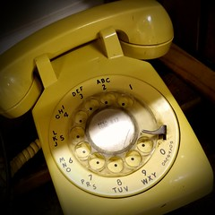 Old Yeller (MoparMadman63) Tags: yellow telephone rotary dial receiver wired number old antique big heavy