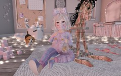 LOTD 01.25.19 (Emery/Teagan Parker) Tags: tipdoes roselline dollface rockingchair crybaby wildflowers jorie bow purple cookies badseedbebe bedroom vco facemask heart kustom9 cute adorable silly
