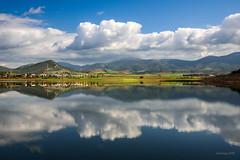 A perfect mirror (alexring) Tags: yliki lake mouriki viotia greece mirror reflection clouds water nikon d750 alexring