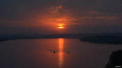 "The ""Eye"" above Irtysh river. Omsk (kirill.jankowsky) Tags: eye above irtysh river omsk d7100 helios 402 1585mm f11 омск иртыш закат на реке оранжеый глаз гроза rainy orange bridge siberian nikon ngc national geographic group"