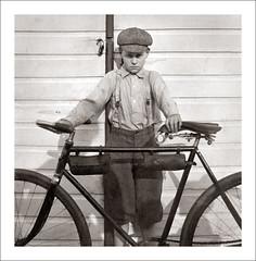 Portrait 059-25 (Steve Given) Tags: socialhistory familyhistory portrait boy kids child bike bicycle