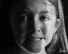 Her eyes catch me (amunoztico) Tags: sweet kids kid niña chica retrato portrait face girl blackandwhite bw eye deep eyes samantha 2018 poraño