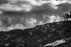 Dark Clouds (noname_clark) Tags: rockymountainnationalpark outdoor hike snow lillymountain blackandwhite cloud mountain