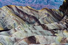 Zabriskie Kaleidoscope (TierraCosmos) Tags: zabriskiepoint colors hills geology mountains striations oxidation landscape desert deathvalley deathvalleynationalpark multicoloredhills california